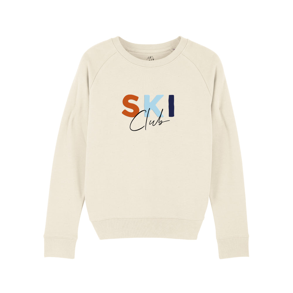 "Sweat marquage velours Femme ""Ski Club"""