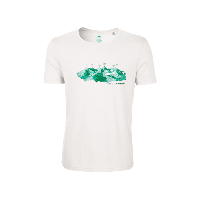 T-SHIRT HOMME ULTRASOFT CHARTREUSE BLANC