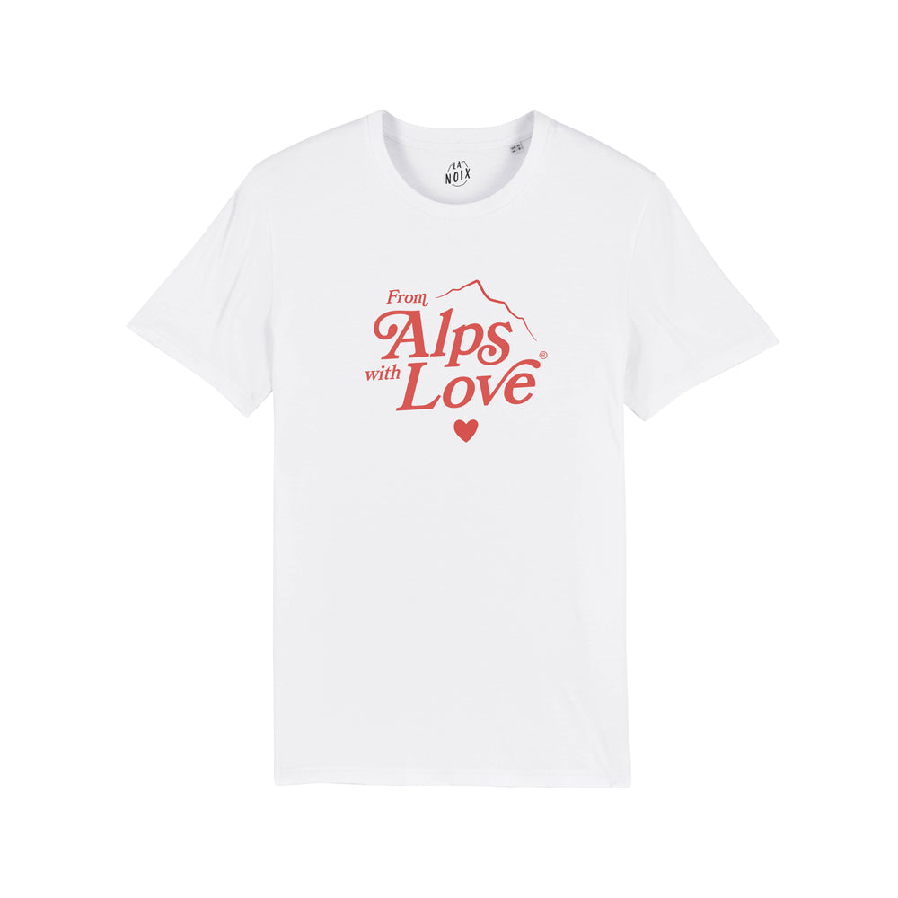 "T-shirt français imprimé Homme ""from Alps with Love"""