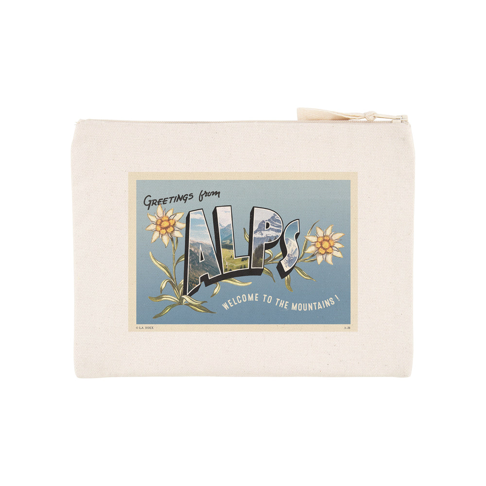 "Pochette imprimée ""Greetings from Alps"""