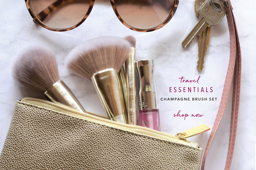TRAVEL BRUSH SET FEATURING ESSENTIAL ON THE GO MAKEUP BRUSHES