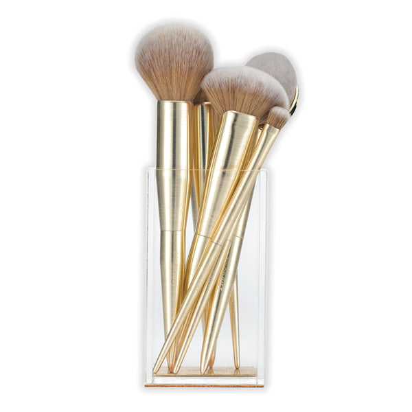 Colorjust Limited Edition Brush Set with matching Vanity Acrylic Brush Holder