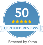 We've Reached 50 Five Star Reviews!