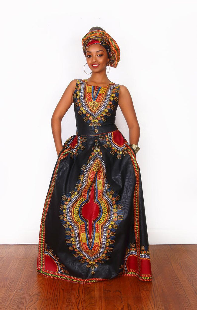 African Daishiki Prom Dress