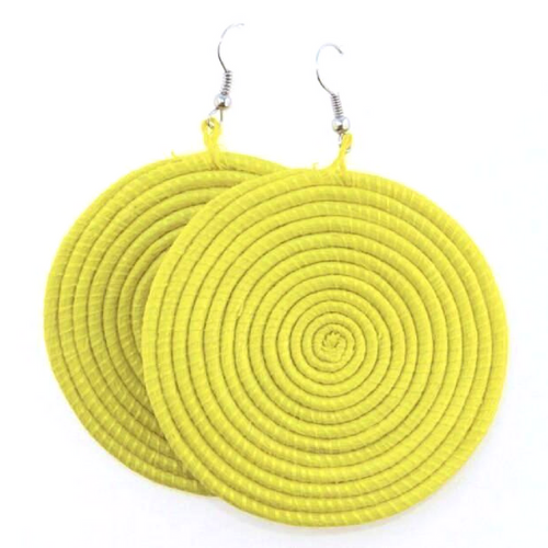 Rwandan African Sisal Earrings - The Afropolitan Shop