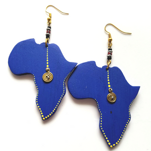 Mbao Wooden African Earrings - The Afropolitan Shop