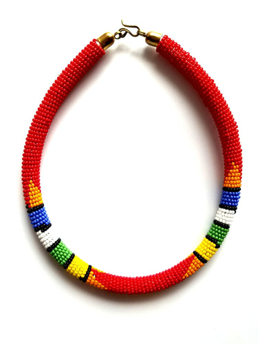 Urembo African Beaded Choker - The Afropolitan Shop