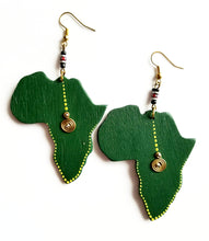 Mbao Wood African Earrings - The Afropolitan Shop