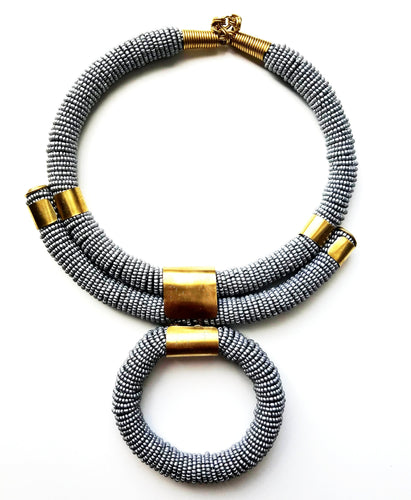Nefertiti African Beaded Necklace - The Afropolitan Shop