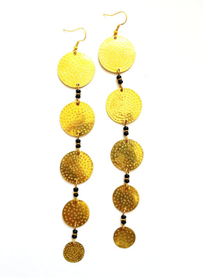 Maya Gold African Earrings - The Afropolitan Shop