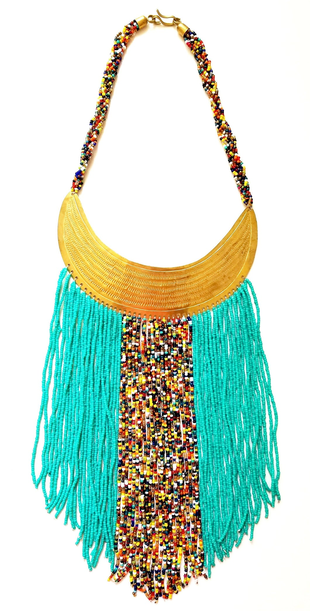 Pendo Fringe Necklace - The Afropolitan Shop