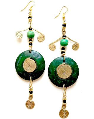 Treetop Nazi African Earrings - The Afropolitan Shop