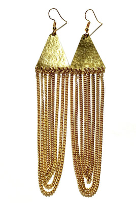 Ciku Gold African Earrings - The Afropolitan Shop
