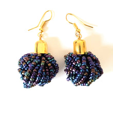Kilifi Dark Metallic Blue African Earrings