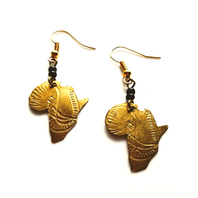 Little Africa Gold African Earrings - The Afropolitan Shop