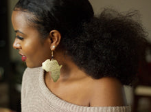 Maridadi Gold Africa Map Earrings - The Afropolitan Shop