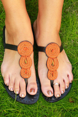 Sunset Sandals - The Afropolitan Shop
