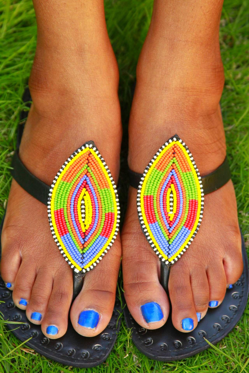 African Shield Sandals - The Afropolitan Shop