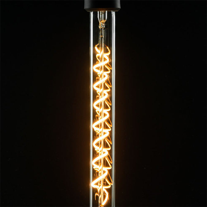 LED Filament Long Tube | spiral clear
