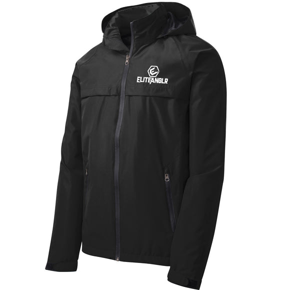 Packable Light Weight Black Rain Jacket