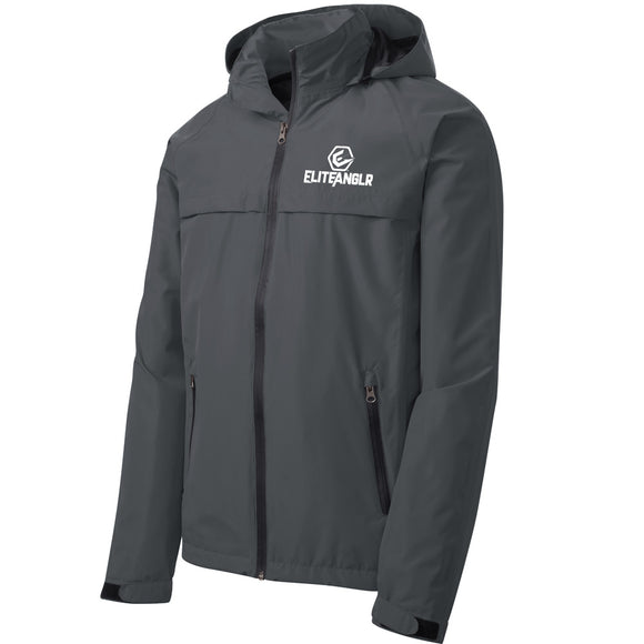 Packable Light Weight Grey Rain Jacket