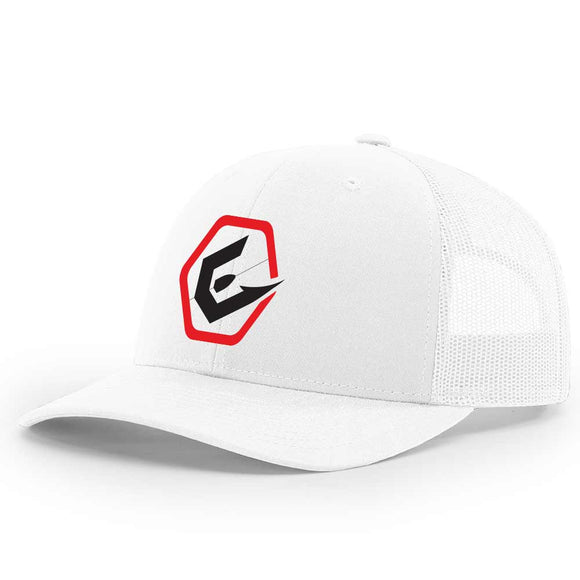 White Elite Anglr Snap back hat