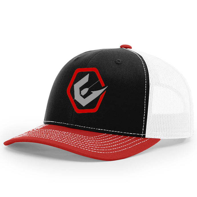 The Day Break Snapback-Black, Red & White