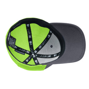 The Prime Time Stretch Fit - Grey & Neon Green