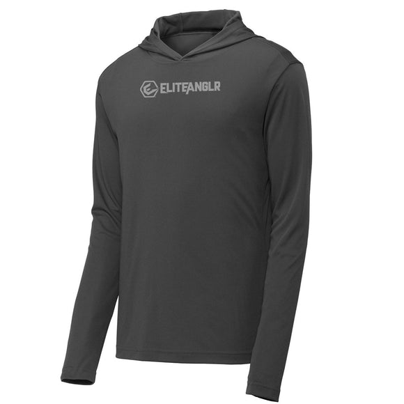 Elite Anglr Grey Hooded Performance shirt