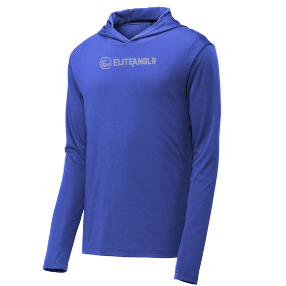 Elite Anglr Blue Hooded Performance shirt