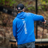 Elite Anglr blue Performance fishing shirt