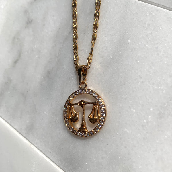 Zodiac Libra Sign Necklace