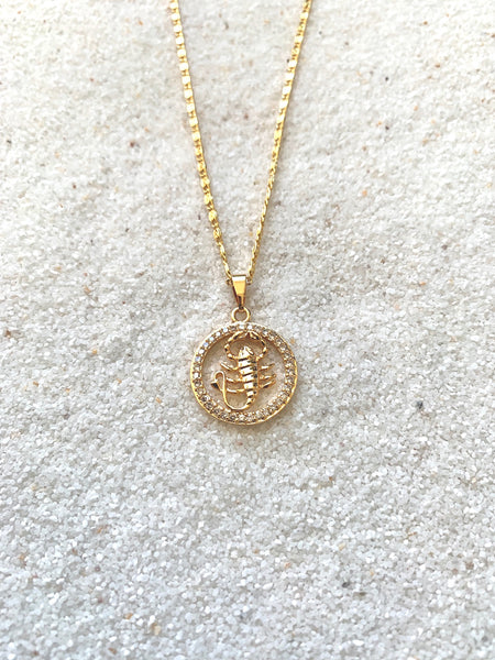 Scorpio Gold Necklace