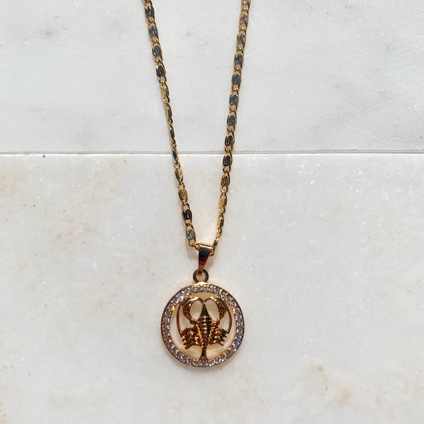 Zodiac Cancer Sign Necklace