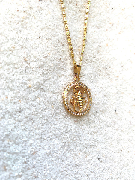 Zodiac Scorpio Sign Necklace