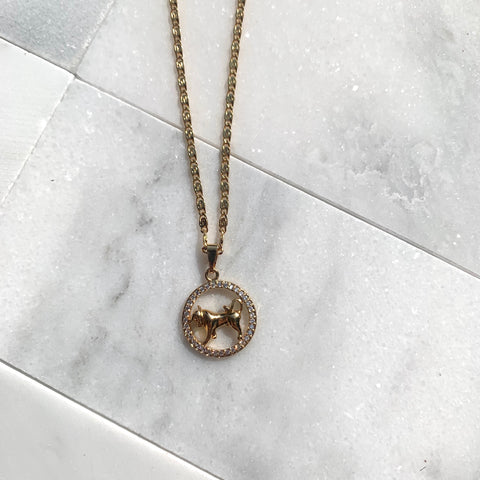 Zodiac Taurus Gold Necklace-Au+ORA