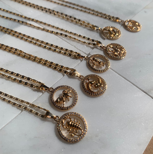 LEO Gold Necklace
