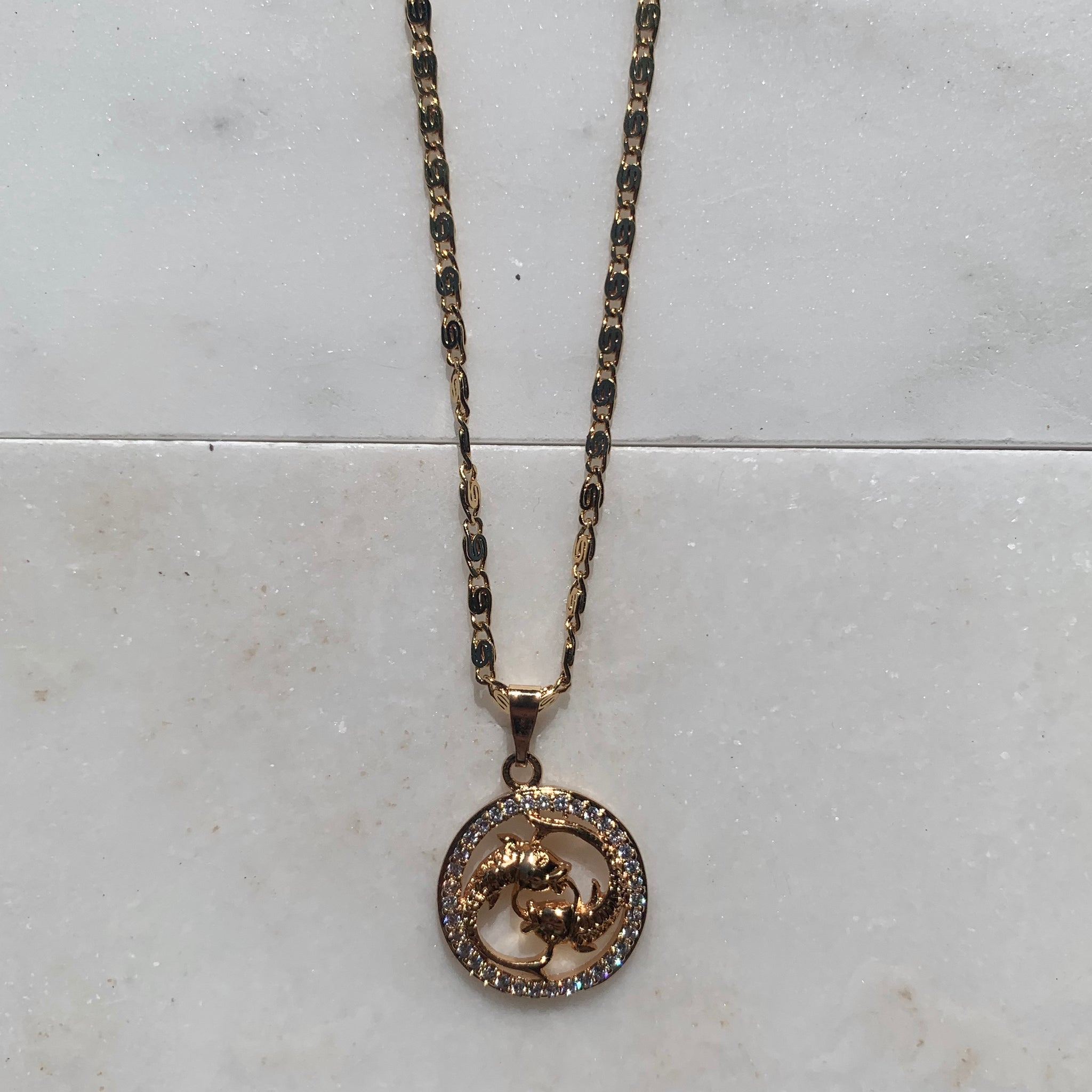 Zodiac Pisces Sign Necklace