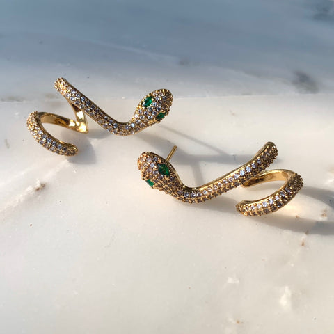 Your Love Is King Snake Studs