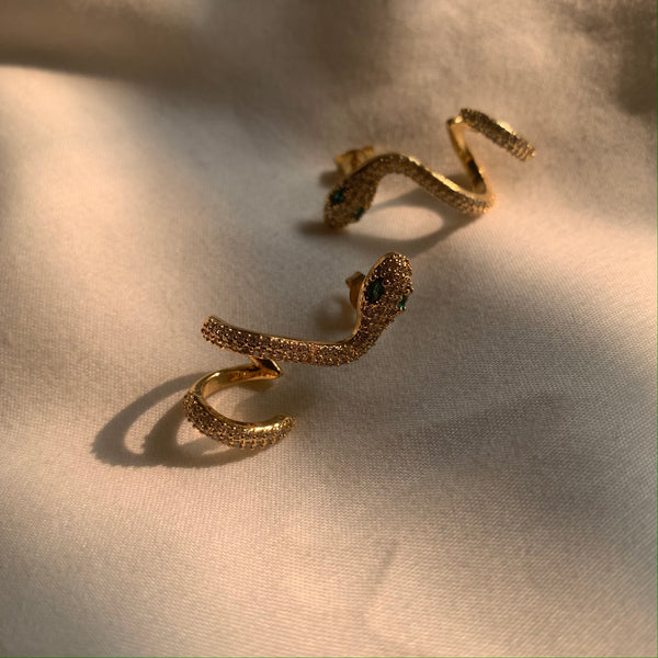 Your Love Is King Snake Studs-Au+ORA