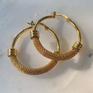 Golden Years Gold Hoops
