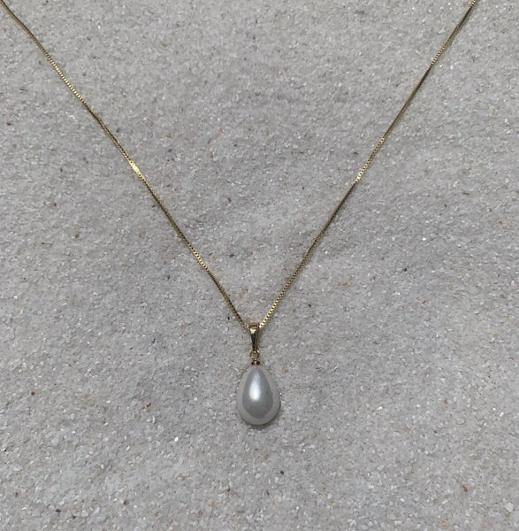 Drops of Jupiter 14k Gold Chain with Teardrop Pearl Necklace-Au+ORA