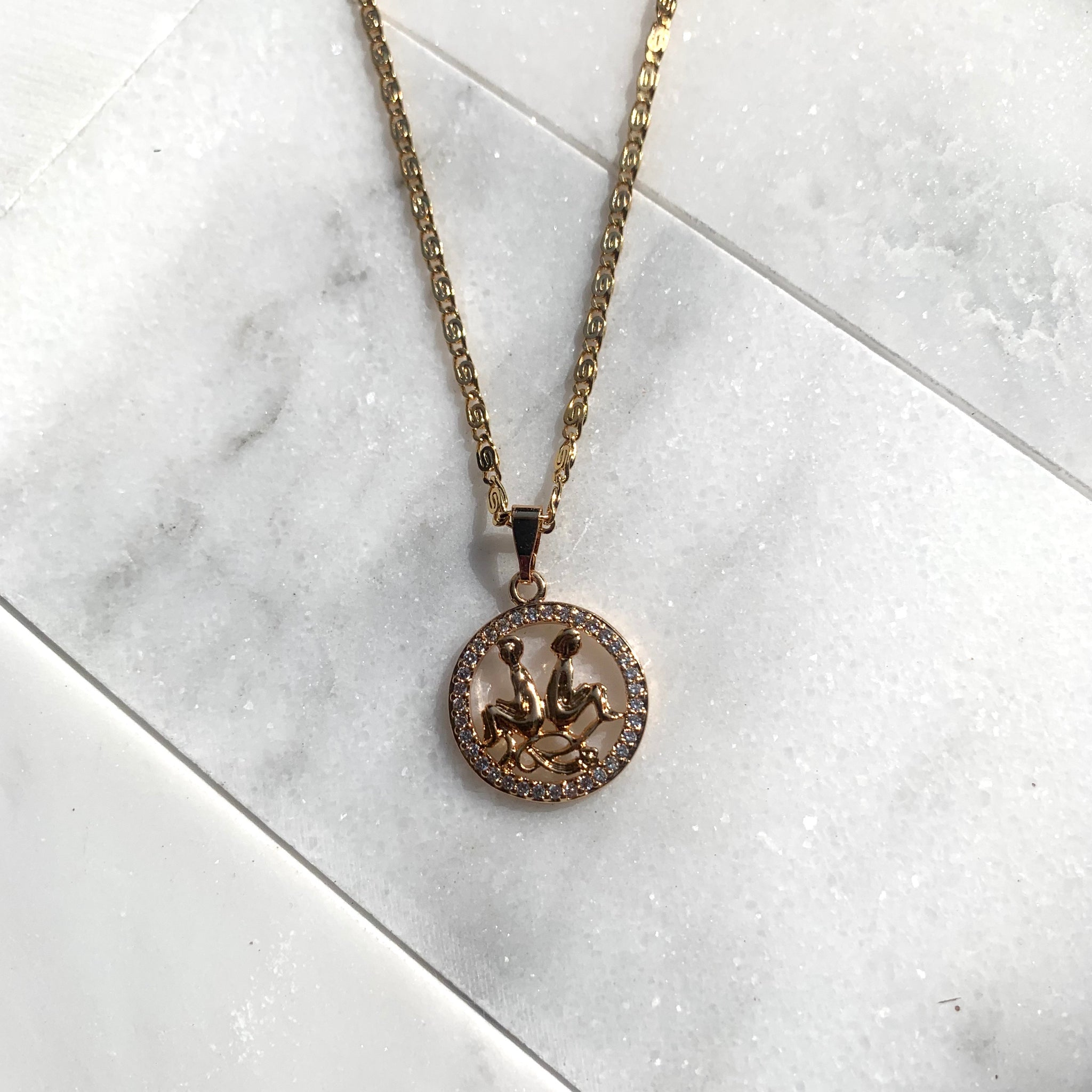 Zodiac Gemini Sign Necklace