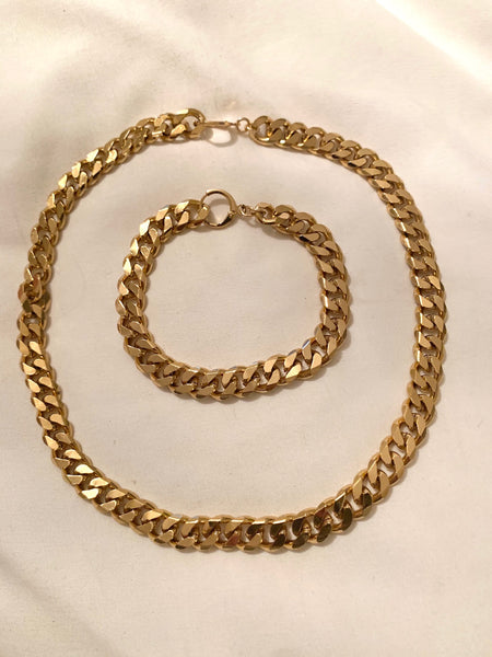 A Higher Love Thick Gold Chain Bracelet