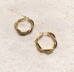 Tainted Love Gold Hoops