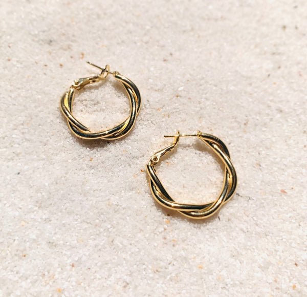 Tainted Love Gold Hoops-Au+ORA
