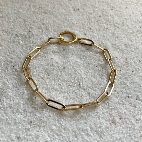 Love Song Gold Paperclip Chain Bracelet