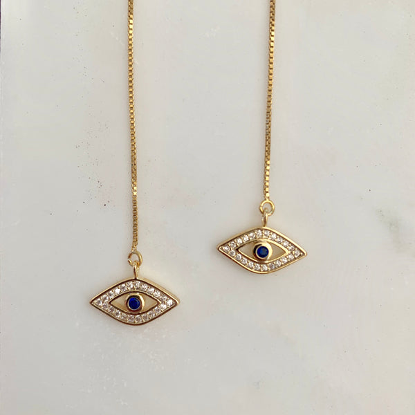 Rhiannon Evil Eye Earrings