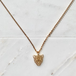 Eye oF The Tiger 14k Gold Tiger Necklace-Au+ORA
