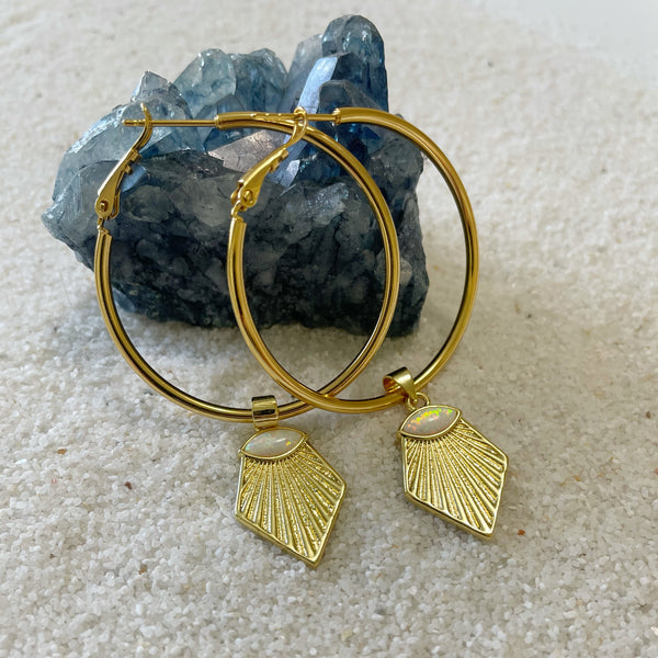 Midnight Hoop Earrings
